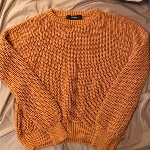 fall color (orange/brown) sweater
